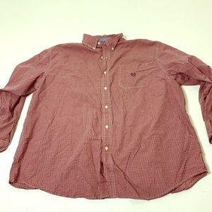 Men's Size 3XL Big Chaps Checker Plaid Dress Shirt